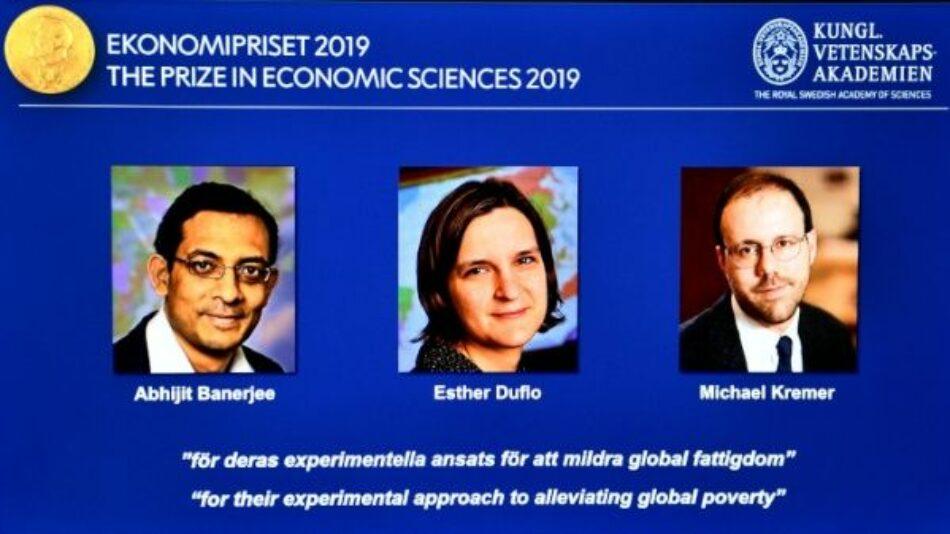 Nobel de Economía reconoce estudios en contra de la pobreza mundial
