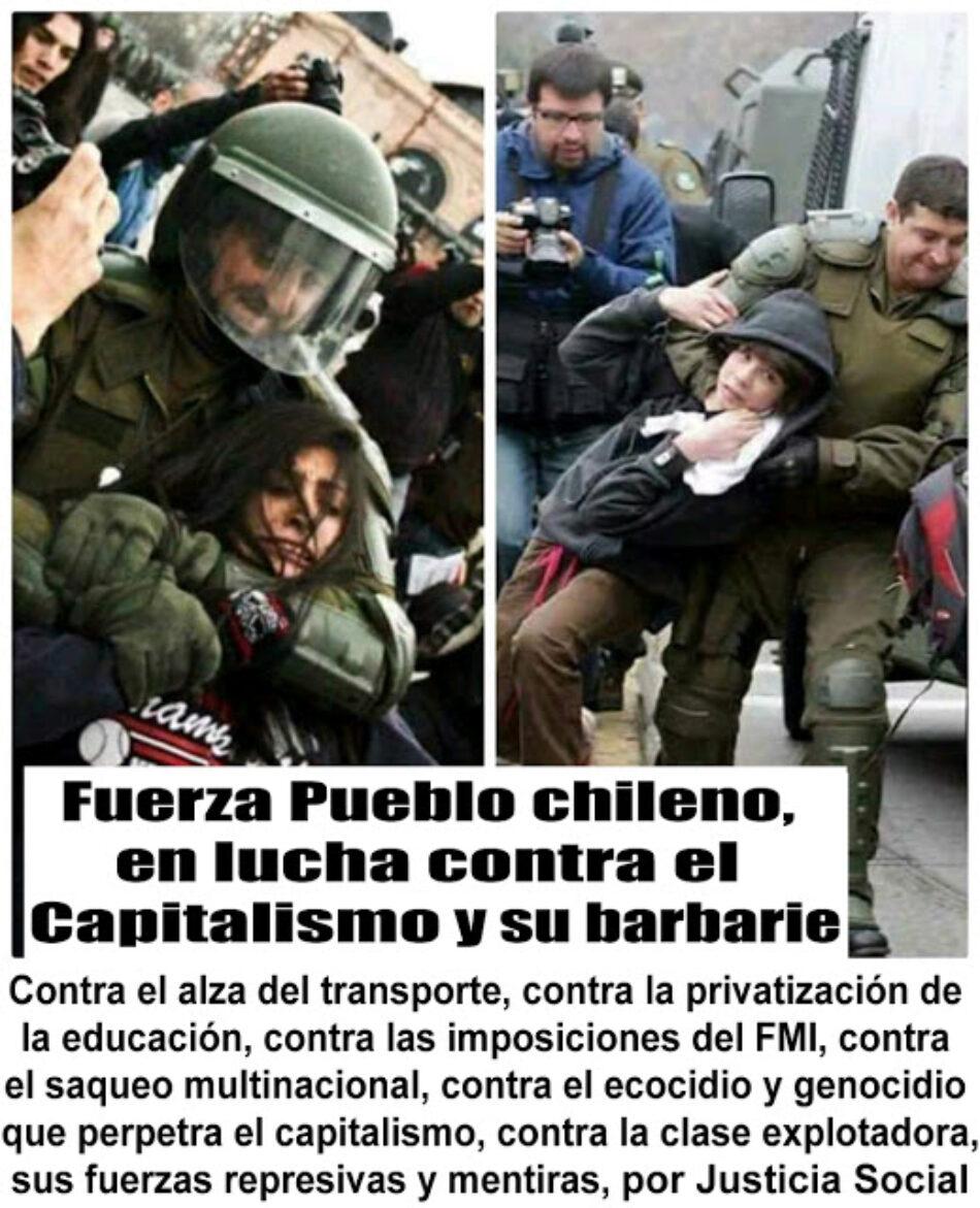 El pueblo chileno en lucha contra el capitalismo y su barbarie