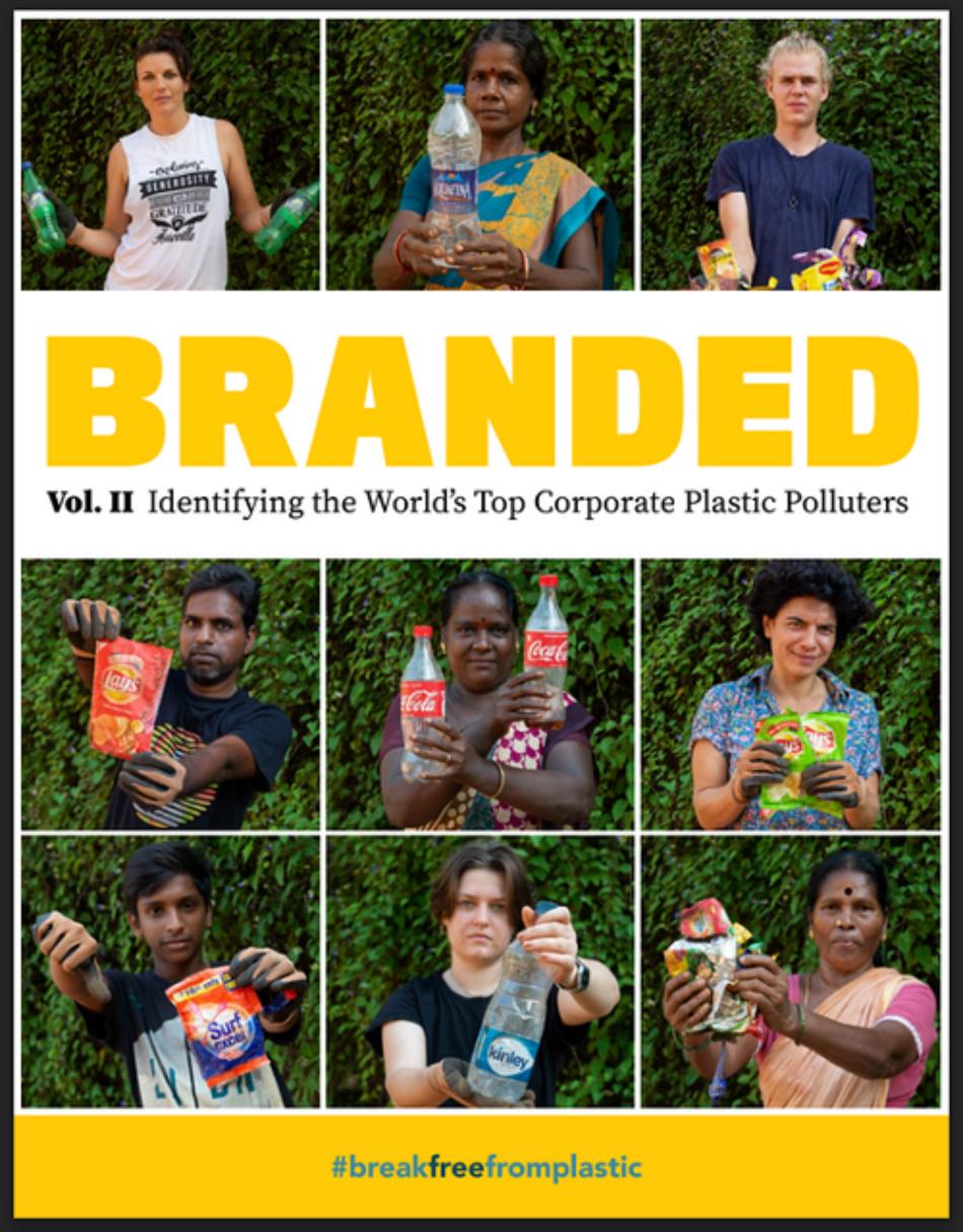 Coca-Cola, Nestlé y PepsiCo nombradas por segundo año consecutivo las principales marcas que más contaminan con sus envases de plástico