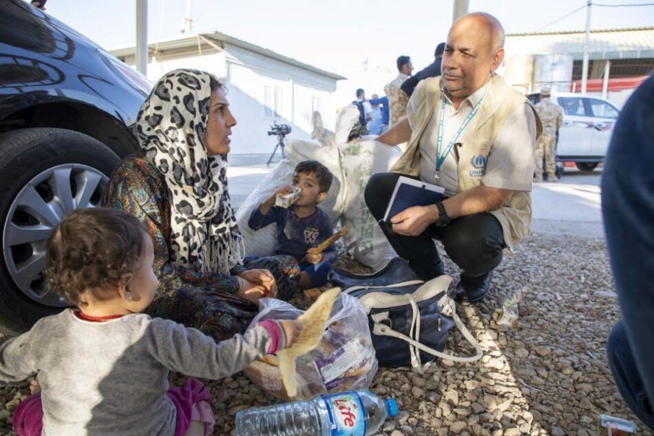 Llegan más refugiados a Irak tras una semana de violencia en el noreste de Siria