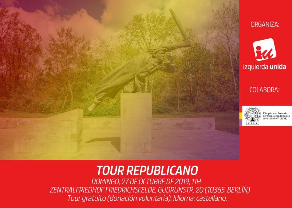 IU Berlín organiza este domingo una nueva edición de su Tour Republicano