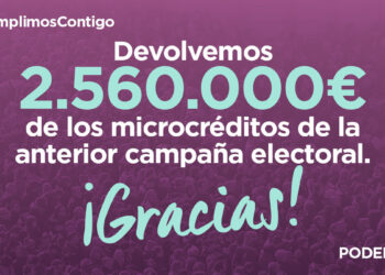 Podemos empieza a devolver los microcréditos de las campañas electorales de abril y mayo