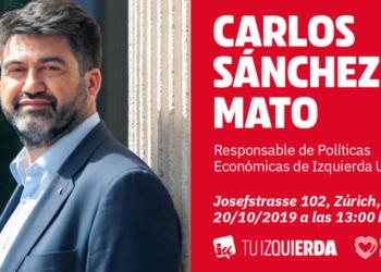 IU Zúrich celebra un encuentro con el economista Carlos Sánchez Mato
