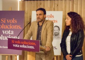 Els comuns insten al canvi i emplacen a la ciutadania a atrevir-se a votar solucions