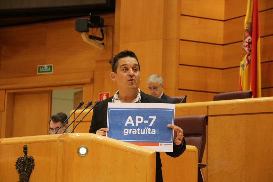 Mulet (Compromís) pide a PSOE-Unidas Podemos una postura inequívoca del Gobierno de coalición sobre el rescate de la AP-7