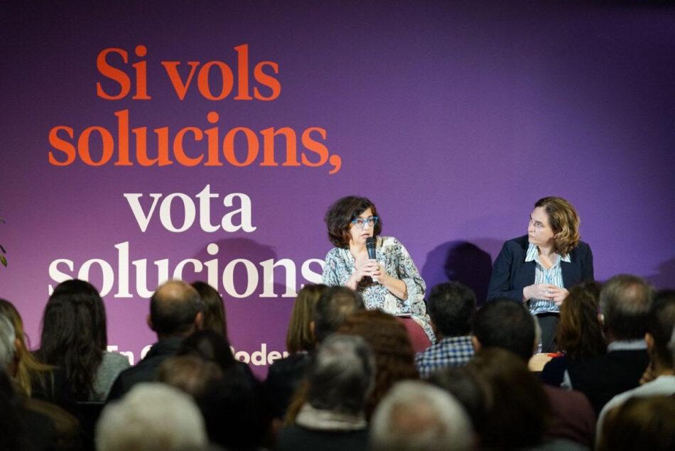 Colau: «El resultat d'En Comú Podem serà més decisiu pel futur de Catalunya que el d'ERC»