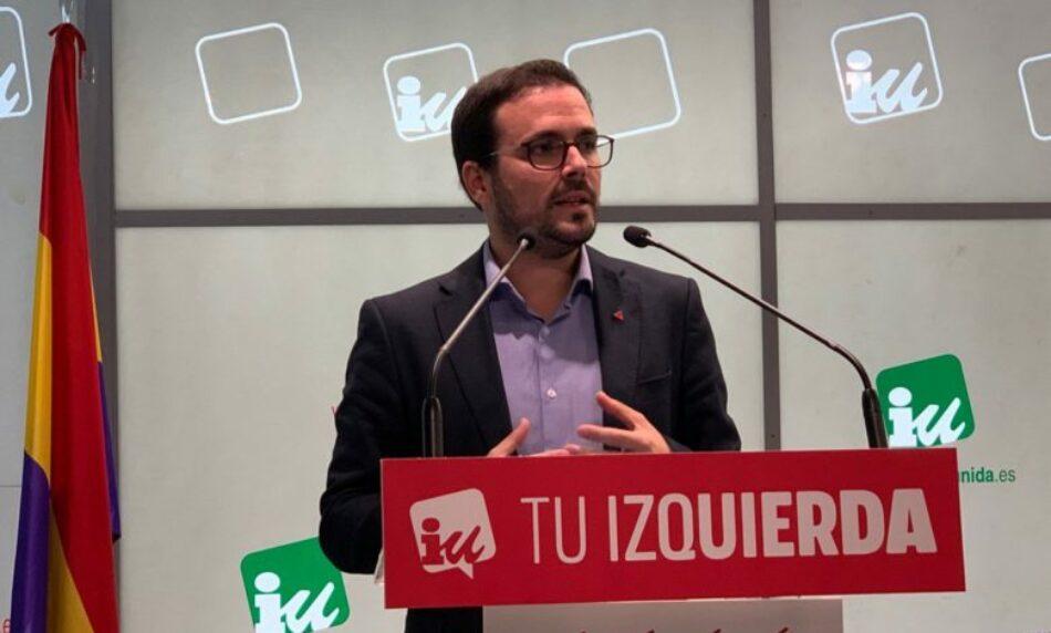 IU consultará a sus bases la participación en un ejecutivo de coalición
