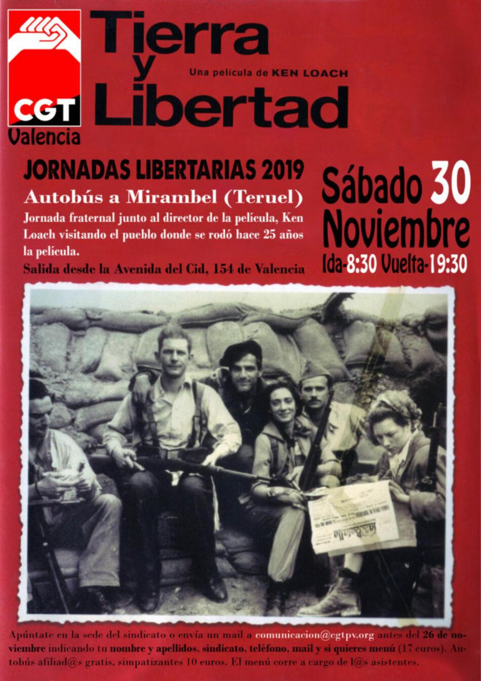 Las Jornadas Libertarias 2019 de CGT-Valencia conmemoran el 25º aniversario de 'Tierra y Libertad'
