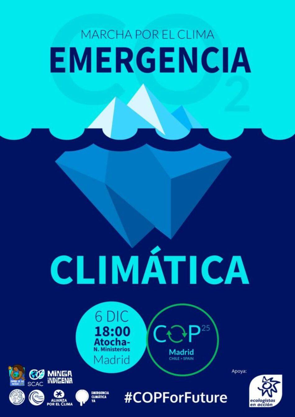 Movilización ecologista sin precedentes frente a la COP25 el 6 de diciembre