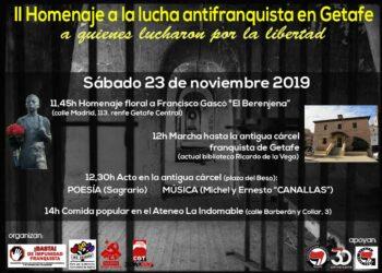 II Homenaje a la lucha antifranquista en Getafe