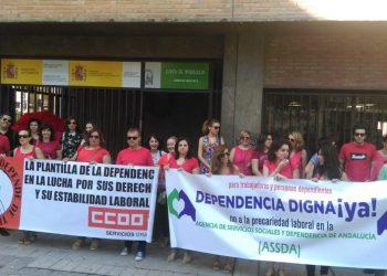 CCOO convoca a la movilización de las trabajadoras de la Dependencia para exigir mejoras salariales y laborales