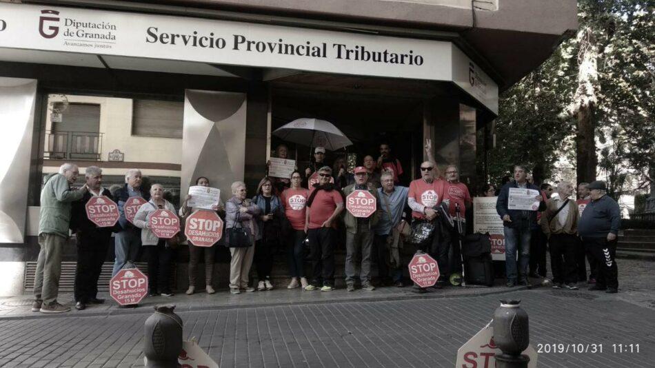 Stop Desahucios Granada 15M se concetra en las puertas de Diputación de Granada