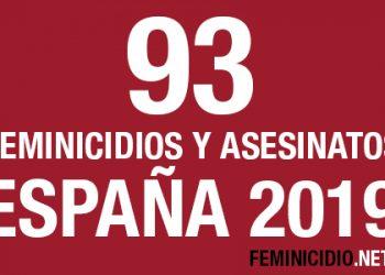 Feminicidio.net registra 93 asesinatos de mujeres cometidos por hombres en España en 2019