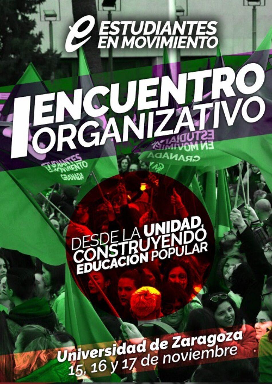 I Encuentro Organizativo estatal de Estudiantes en Movimiento en Zaragoza
