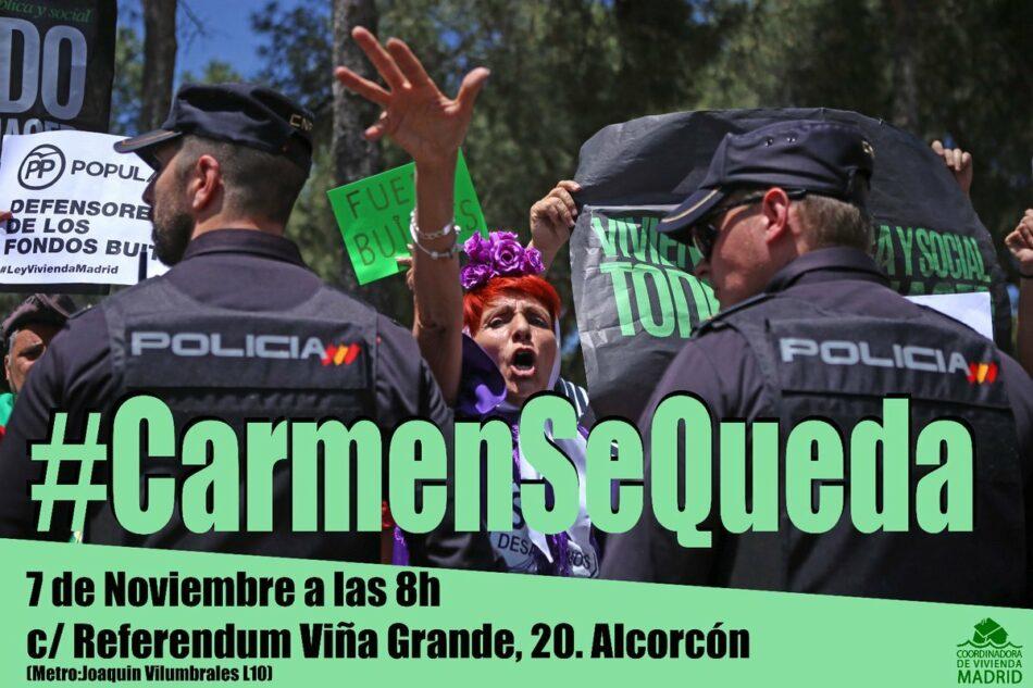 Coordinadora de Vivienda de Madrid: «un buitre pretende desahuciar a nuestra compañera #CarmenSeQueda»