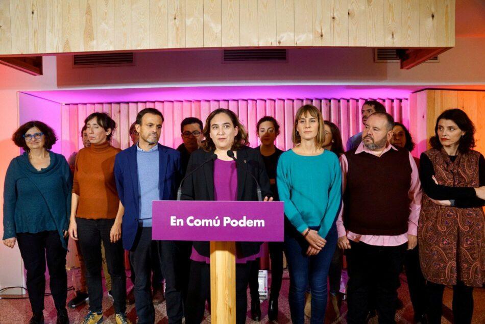 Ada Colau, Jéssica Albiach i Candela López lideraran la nova etapa de l'espai dels i les Comuns