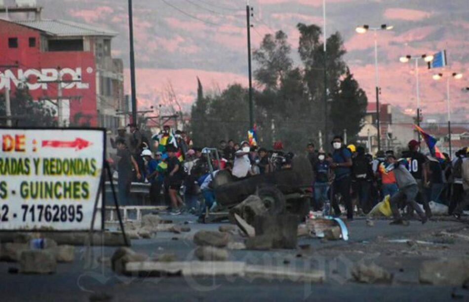 Bolivia. Otro día de represión brutal de la policía en Cochabamba