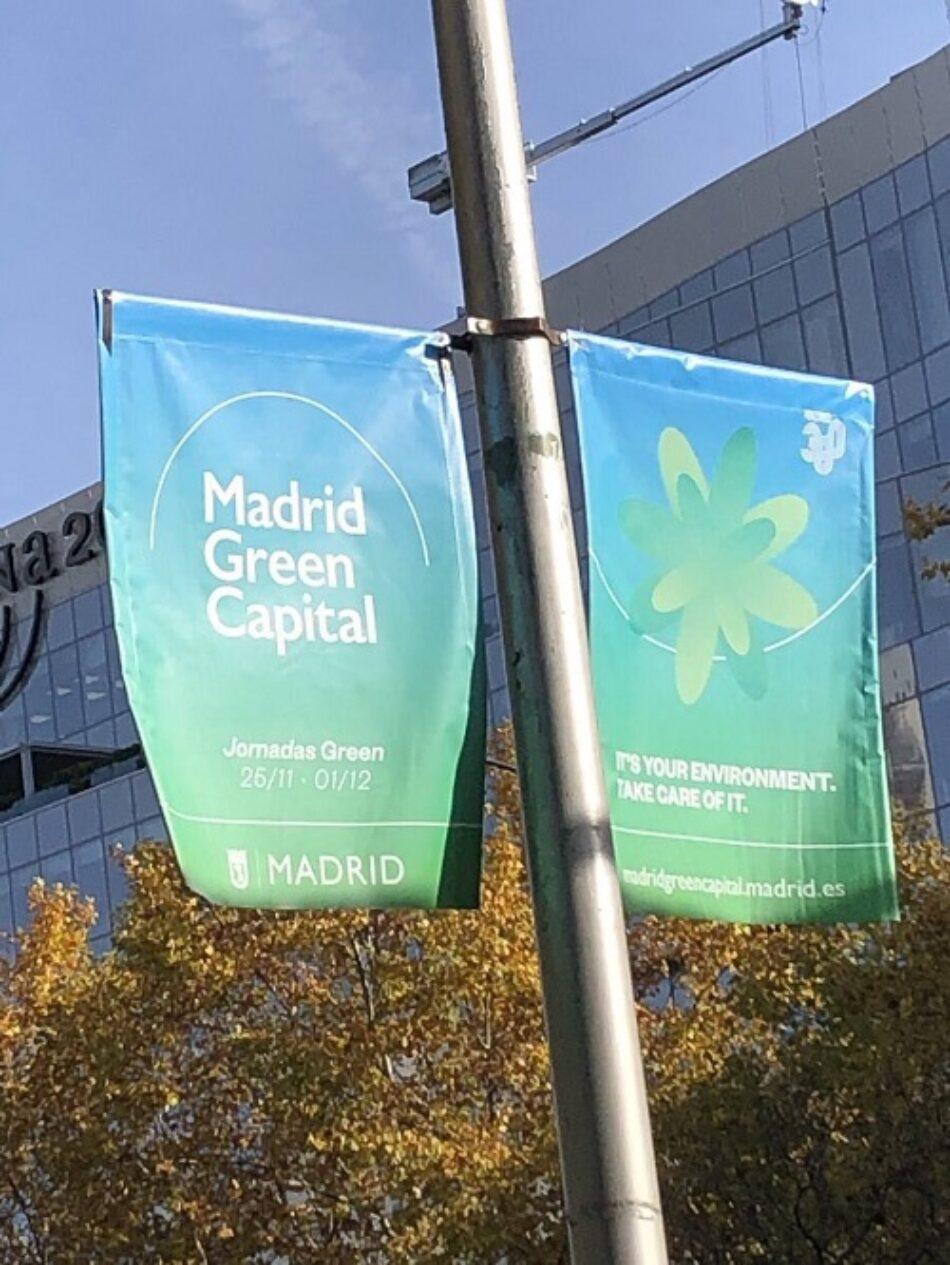 Unidas Podemos denuncia que el Ayto de Madrid se promociona en la Cumbre del Clima con un distintivo verde que no tiene