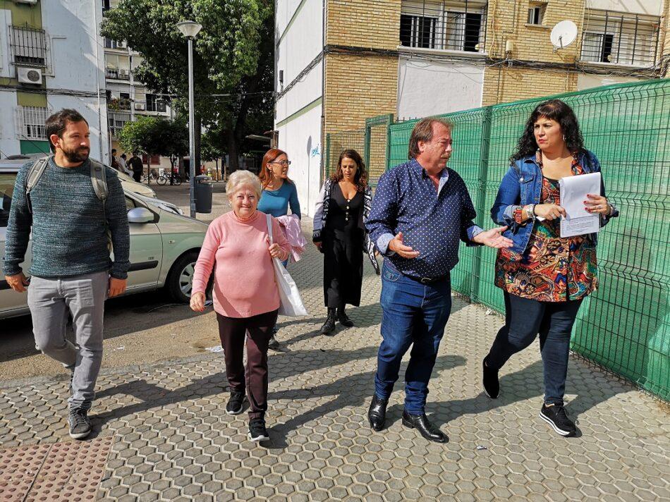 Adelante Sevilla reclama una mejor limpieza y más equipamientos para la barriada del Rocío