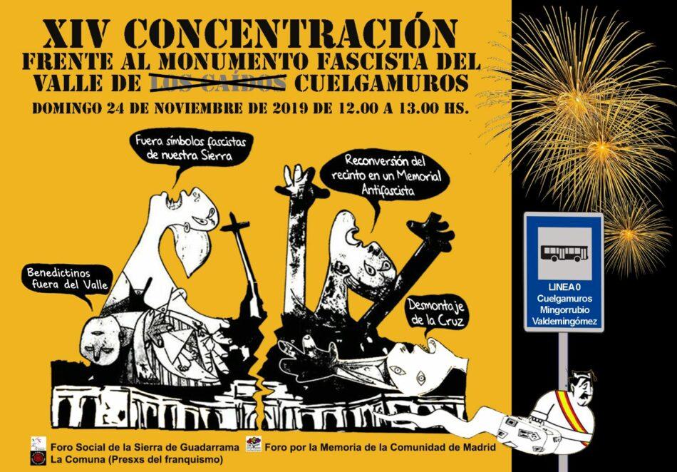 XIV concentración frente al monumento fascista del Valle de Cuelgamuros