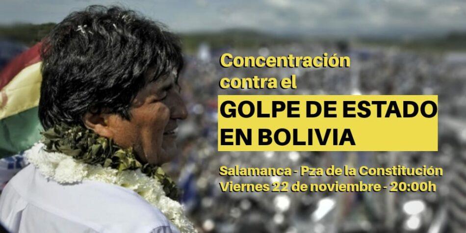 El Partido Comunista de Salamanca (PCE-PCCL) muestra su apoyo a la concentración contra el golpe de estado en Bolivia