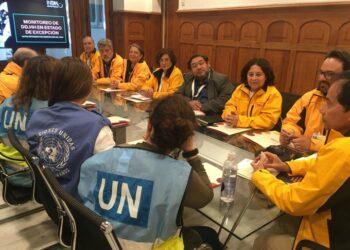 Observadores internacionales se reunen con el Instituto de Derechos Humanos chileno