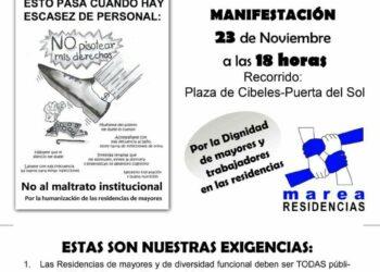 23-N: Manifestación de la Marea de Residencias