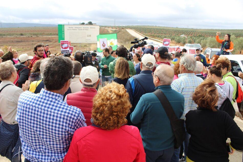 Tercera etapa de las marchas en defensa del ferrocarril público y social andaluz