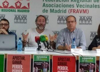 La FRAVM hace públicas las alarmantes cifras del juego en Madrid