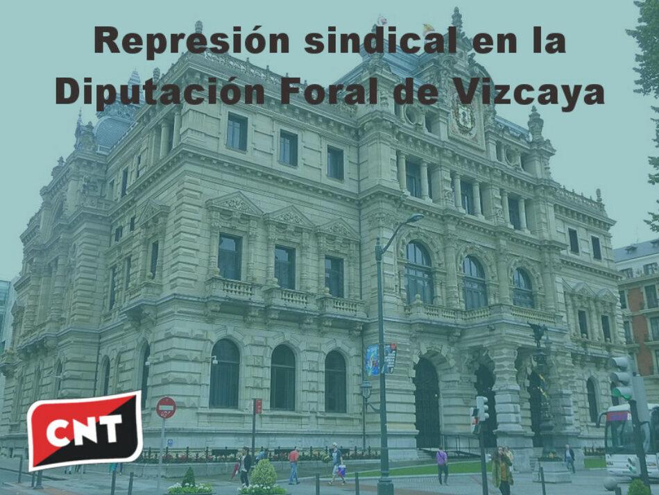 Concentración frente a la Diputación de Vizcaya contra expediente disciplinario por secundar la pasada huelga del 8M