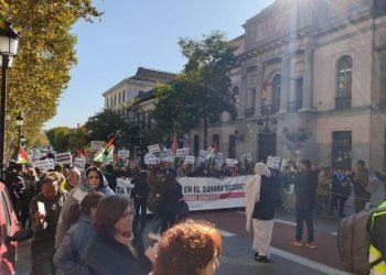 Multitudinaria manifestación en Madrid para denunciar la ocupación del Sáhara Occidental