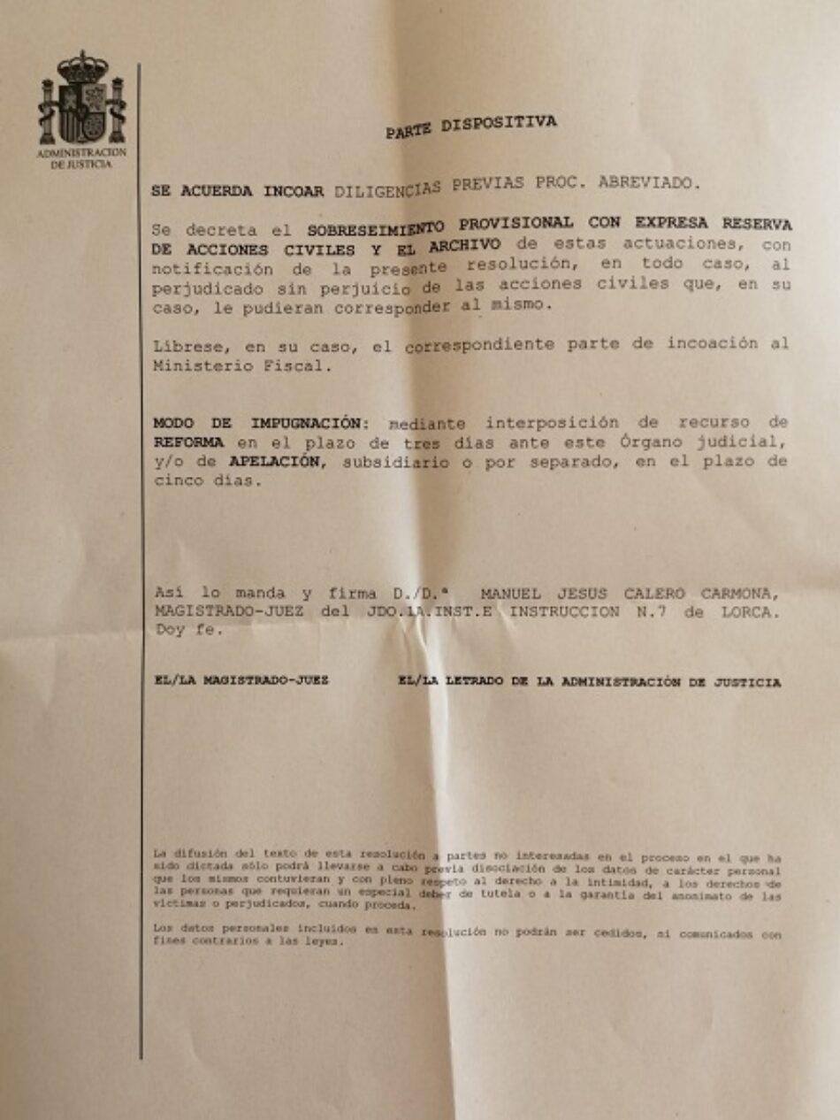 Primera resolución judicial por injurias de Ortega Smith y varios medios digitales a las «Trece Rosas»