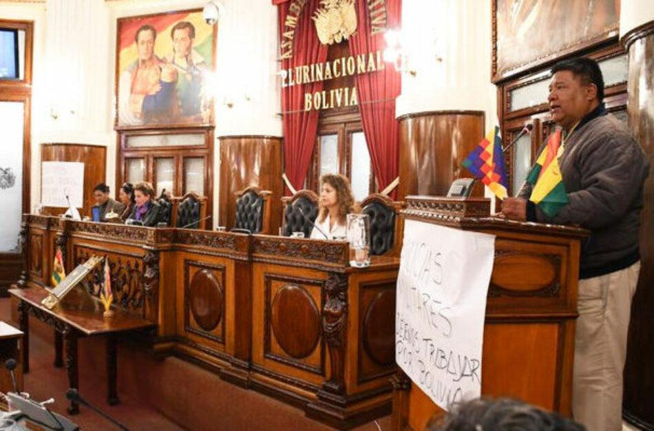 Bolivia. Sesionó el Parlamento con la presencia de los diputados del MAS