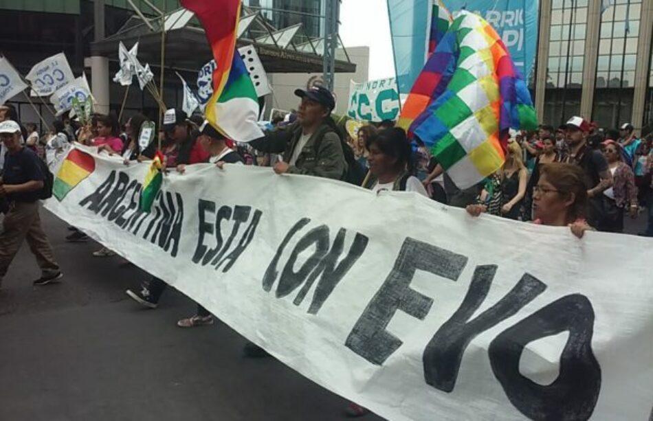 Multitudes se movilizaron en solidaridad con Evo Morales y contra el golpe de Estado