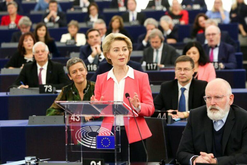 """IU vota en contra de la Comisión Von der Leyen y reclama """"un giro radical a las políticas de la Unión Europea"""""""