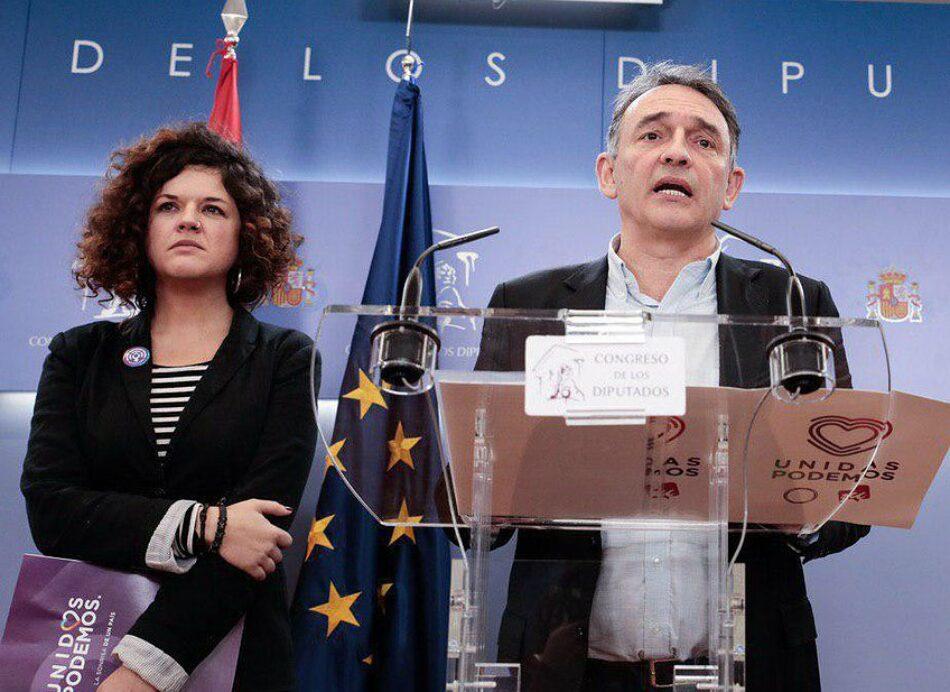 Unidas Podemos denuncia ante la Fiscalía la difusión de audios de la víctima del caso Arandina