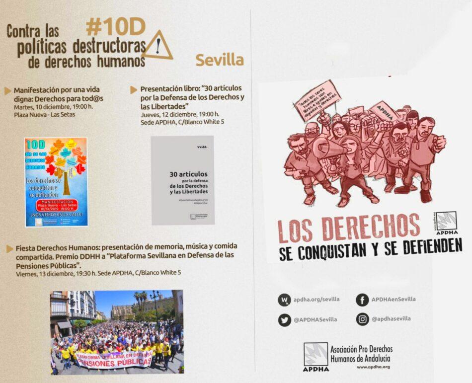 #10D: «contra las políticas destructoras de derechos humanos»