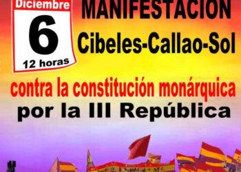 Manifestación 6D: Frente al fascismo, la monarquía y su constitución, III República