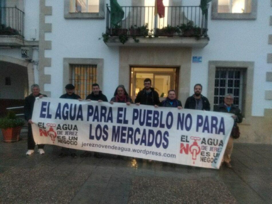 La Trama del Agua de Jerez lanza una ofensiva sobres las ELA para privatizar el agua en todo el municipio