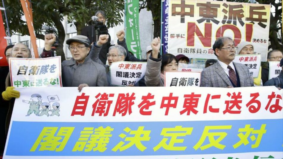 Protestas en Japón contra el envío de tropas a Oriente Medio