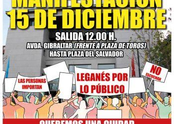 """30 colectivos de Leganés convocan una manifestación """"por una ciudad donde las y los vecinos importen"""""""