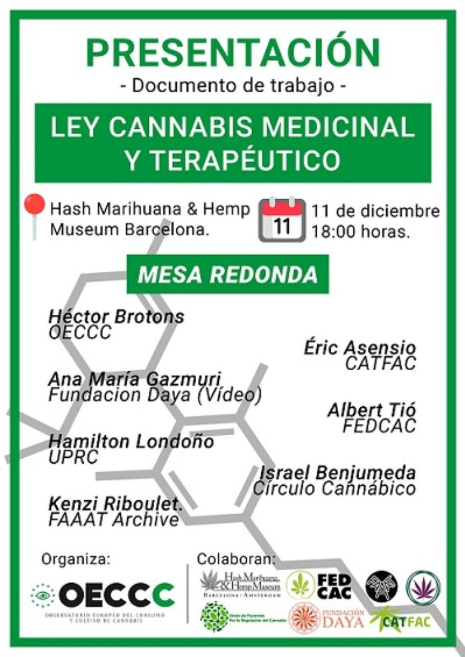 Expertos presentarán una propuesta de Ley del Cannabis Medicinal y Terapeútico