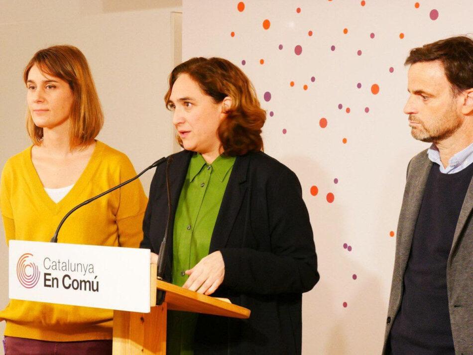 Ada Colau, Jéssica Albiach i Candela López es marquen l'objectiu de consolidar i fer créixer l'espai dels i les comuns de cara al 2023