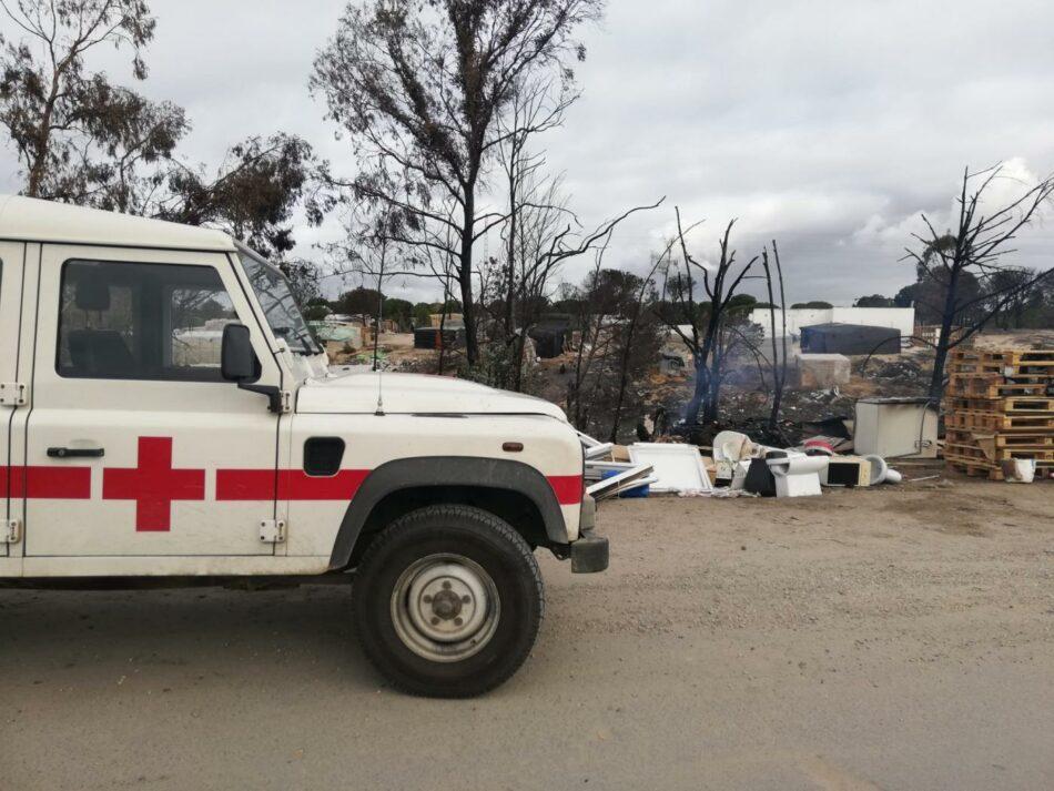 APDHA achaca a la falta de soluciones en los asentamientos la muerte de un joven en Palos de la Frontera por un incendio