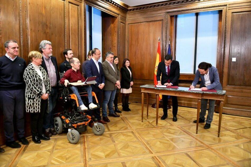 PSOE y Unidas Podemos presentan su documento de Gobierno: «Coalición Progresista – Un nuevo acuerdo para España»