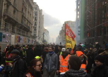 La huelga contra la reforma de las pensiones cumple 24 días en Francia