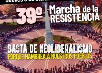 Convocatoria a acompañar a las Madres de Plaza de Mayo L. F. a la 39° Marcha de la Resistencia