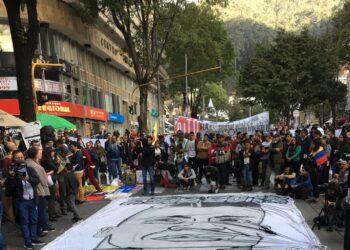 Homenajean a Dilan Cruz en Colombia a un mes de ser asesinado por el Esmad
