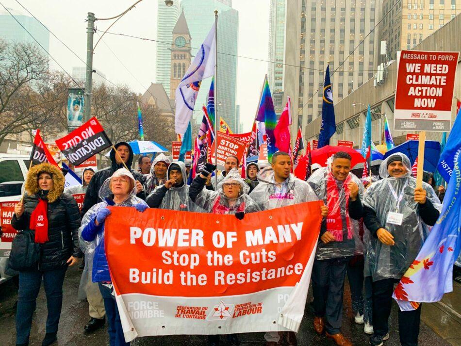 Más sindicatos canadienses denuncian el golpe de estado contra Evo