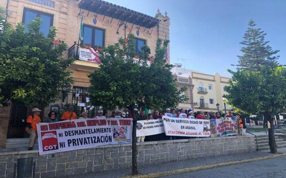 Llega a Sevilla la Marcha en defensa del Tren Rural andaluz, tras las etapas realizadas desde el pasado 12 de octubre